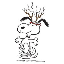 Peanuts Snoopy Antlers by Charles M. Schulz Painting Print on Wrapped Canvas