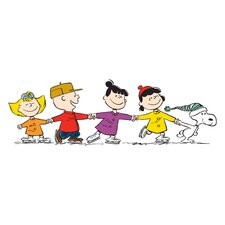 Peanuts Group Skate by Charles M. Schulz Painting Print on Wrapped Canvas