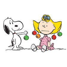 Peanuts Snoopy Sally Ornaments by Charles M. Schulz Painting Print on Wrapped Canvas