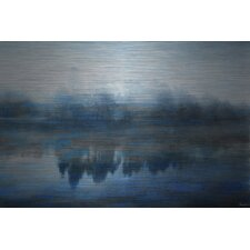 Lake Marmont-Art Print on Brushed Aluminum