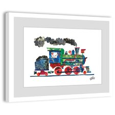 Steam Train 2 Framed Painting Print