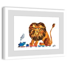 Lion on a Train 2 Framed Painting Print