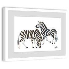 Zebras 2 Framed Painting Print