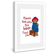 P. Bear Framed Painting Print