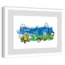 Peanuts Bump, Pow, Bonk Peanuts by Charles M. Schulz Framed Painting Print