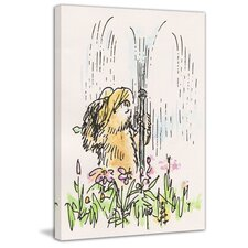 Fun in the Sprinkler Painting Print on Wrapped Canvas