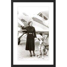 Dog Flight Licensed Smithsonian Framed Photographic Print