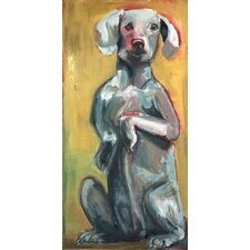 Tall Dog by Tori Campisi Painting Print on Wrapped Canvas
