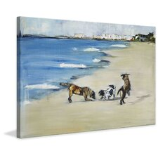Dogs' Play by Tori Campisi Painting Print on Wrapped Canvas