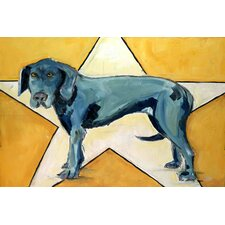Star Dog by Tori Campisi Painting Print on Wrapped Canvas