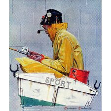Sport Saturday Evening Post Cover by Norman Rockwell Painting Print on Wrapped Canvas