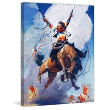 Guns A Blazing by N.C. Wyeth Painting Print on Wrapped Canvas