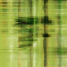 Abstract in Green by Art Collective Painting Print on Wrapped Canvas