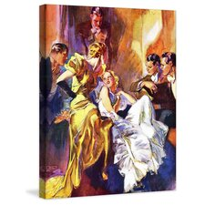 Vintage Fashion The Battle of the Blondes by John Lagatta Painting Print on Wrapped Canvas