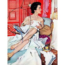 Vintage Fashion The Strange Woman by Bernard Dandrea Painting Print on Wrapped Canvas