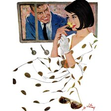 Vintage Fashion The Golden Rose by Coby Whitmore Painting Print on Wrapped Canvas