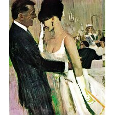 Vintage Fashion Masquerade by Coby Whitmore Painting Print on Wrapped Canvas