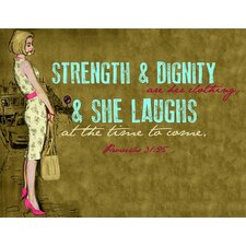 Vintage Fashion Strength and Dignity Vintage Advertisement on Wrapped Canvas