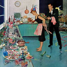 After Party Clean-up by Ben Kimberly Prins Painting Print on Wrapped Canvas