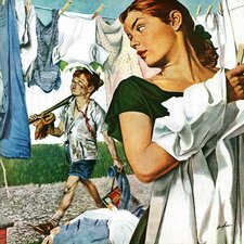 More Clothes to Clean by George Hughes Painting Print on Wrapped Canvas