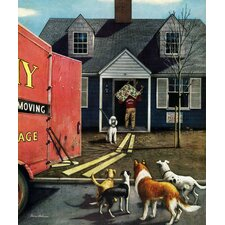 New Dog in Town by Stevan Dohanos Painting Print on Wrapped Canvas