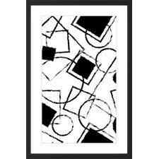 Circle Squares Framed Graphic Art