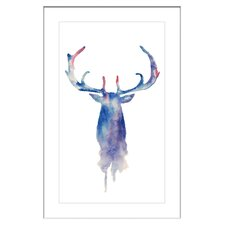 Moose Paint Framed Painting Print