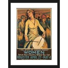 Women Framed Vintage Advertisement