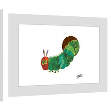 Caterpillar Hiding Framed Painting Print