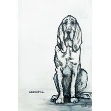 Grateful Hound Dog Painting Print on Wrapped Canvas