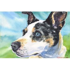 'Australian Cattle Dog' by George Dyachenko Painting Print on Wrapped Canvas