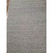 Handgewebter Wohnteppich Twist in Grau