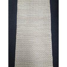 Handgewebter Wohnteppich Twist in Weiß