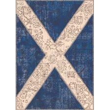Flags Innenteppich in Blau/Beige