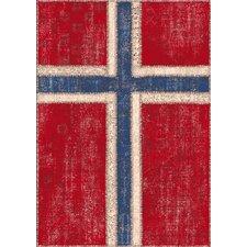 Wohnteppich Flags in Rot / Blau