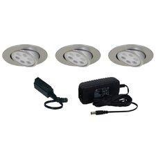 Slim Disk LED 3 Light Adjustable Round Kit
