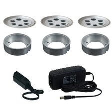 Slim Disk LED 3 Light Fixed Round Kit