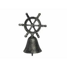 Cast Iron Ship Wheel Hand Bell