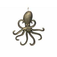"7"" Cast Iron Wall Mounted Octopus Hook"
