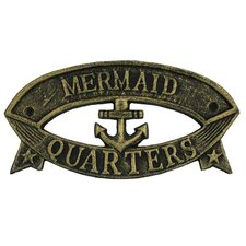 Mermaid Quarters Sign Wall Décor