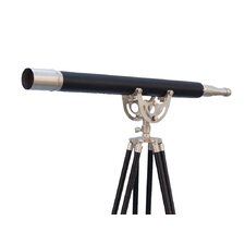 Floor Standing Brushed Nickel with Leather Anchormaster Telescope
