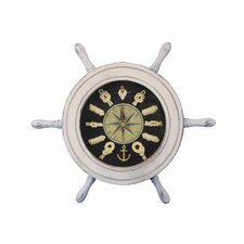 """12"""" Ship Wheel with Knot Face Clock"""