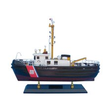 "16"" United States Coast Guard Harbor Tug Model Boat"