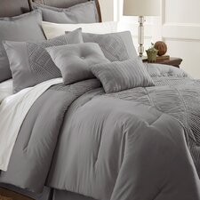 Savannah 8 Piece Embellished Comforter Set in Gray