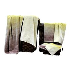 Yarn Dyed Jacquard 6 Piece Towel Set