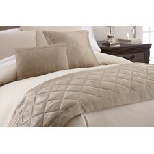 Swarovski Crystal 3 Piece Bed Scarf and Deco Pillow Set