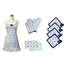 9 Piece Cotton Apron Set