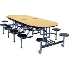 Rectangular Round Cafeteria Table