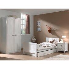 4-tlg. Schlafzimmer-Set Lewis, 90 x 200 cm