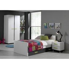 4-tlg. Schlafzimmer-Set Nixon, 90 x 200 cm